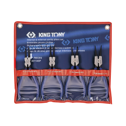 Conjunto c/ 4 Alicates p/ Anéis Externo e Internos - 42114GP - King Tony