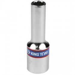 Soquete Estriado Longo 8 mm com Encaixe de 1/2 Pol. - KING TONY-423008
