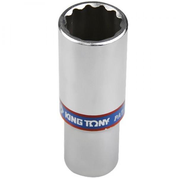 Soquete Estriado Longo 20 mm com Encaixe de 1/2 Pol. - KING TONY-423020