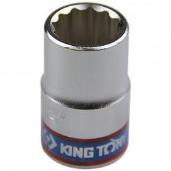 Soquete Estriado de 15 mm com Encaixe 1/2 Pol. - KINGTONY-433015