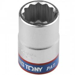 Soquete Estriado de 17 mm com Encaixe 1/2 Pol. - KINGTONY-433017