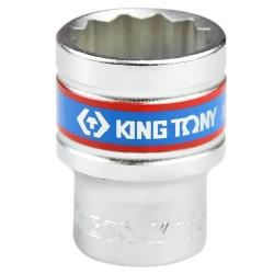 Soquete Estriado de 21 mm com Encaixe 1/2 Pol. - KINGTONY-433021
