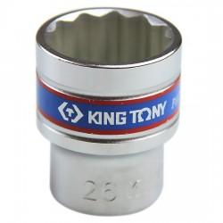 Soquete Estriado de 26 mm com Encaixe 1/2 Pol. - KINGTONY-433026