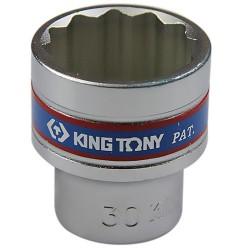 Soquete Estriado de 30 mm com Encaixe 1/2 Pol. - KINGTONY-433030
