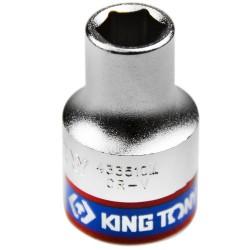 Soquete Sextavado Curto de 1/2 Pol. - 10 mm - KINGTONY-433510