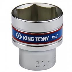 Soquete Sextavado Curto de 1/2 Pol. - 30 mm - KINGTONY-433530